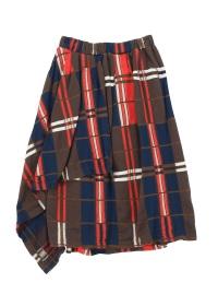 ZUCCa / ビッグチェックジャガード / スカート