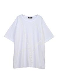 ZUCCa / ラインプリントTシャツ / Tシャツ