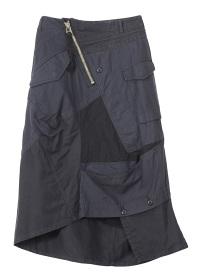 ZUCCa / ミリタリーパッチワーク / スカート