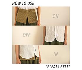 """ネ・ネット HOW TO USE """"PLEATS BELT"""""""